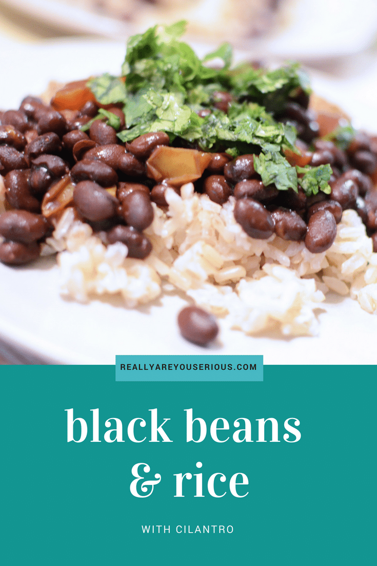 Easy Black Beans and Rice Recipe with Cilantro • Really ...
