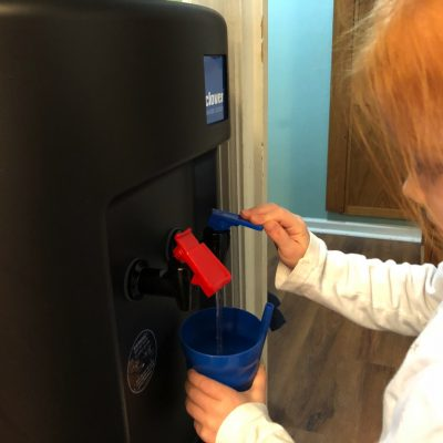 fontis review kid with water cooler