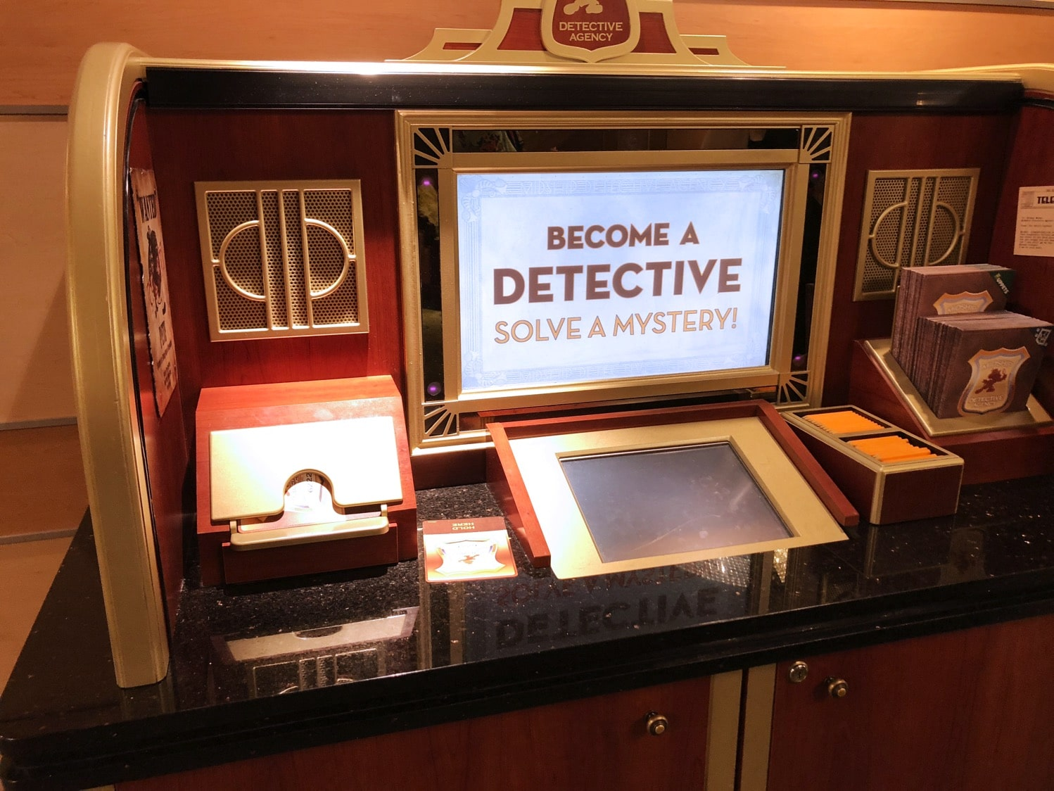 Midship Detective Agency Game on Disney Cruise Line