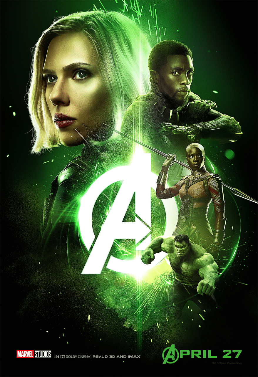 Avengers Infinity War Gree poster with black panther