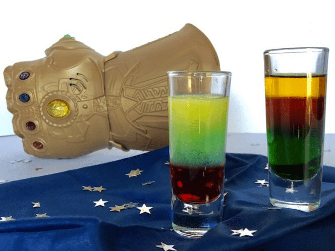 How to Create a Layered Cocktail: an Avengers Infinity Stones Drink