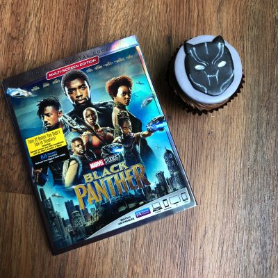 Black panther Blu-ray and black panther cupcake