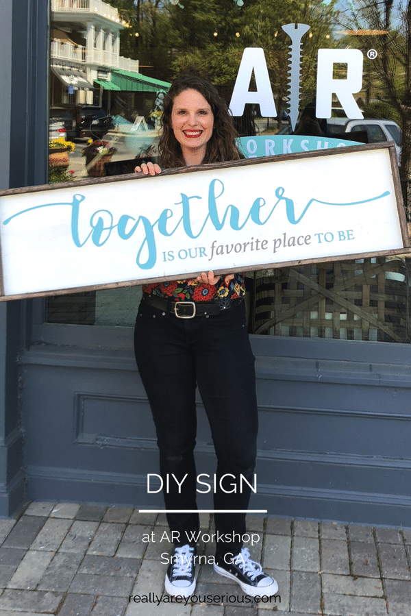 DIY wall sign AR workshop
