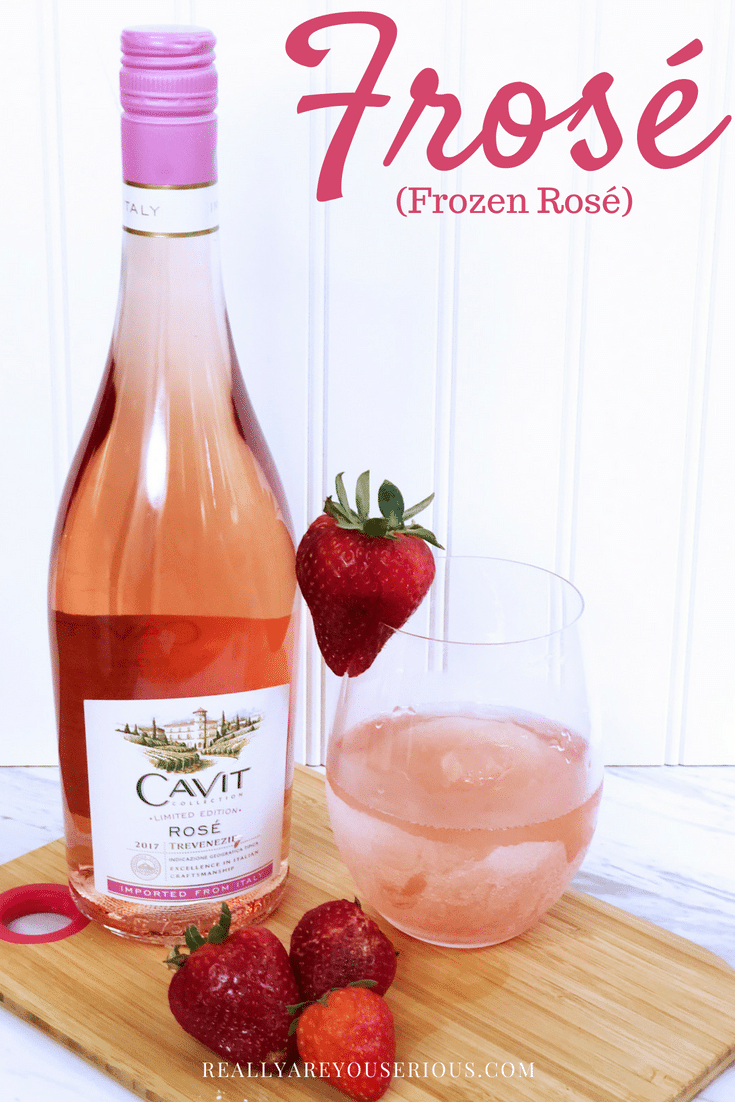 How to make a delicious and tasty Frosé (Frozen Rosé) #frose in your ice cream maker or #blender with just a few ingredients. #boozy #adultsonly #blenditup #frozenrose