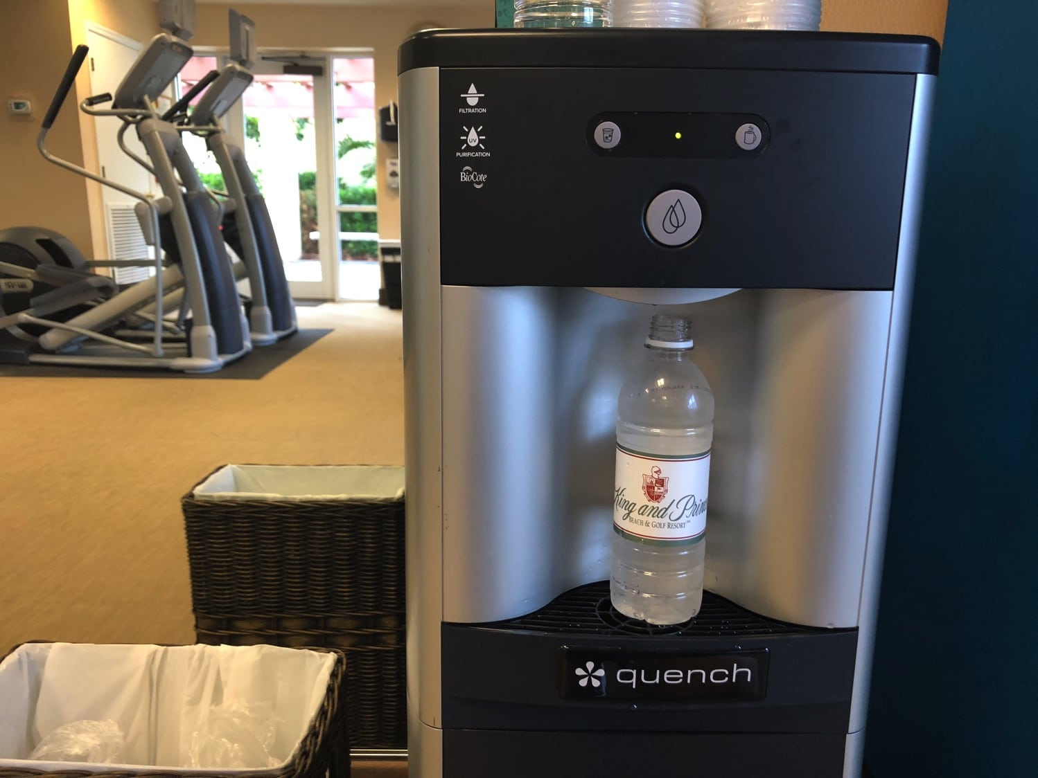 get water from the fitness room