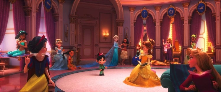 Vanellope with princesses