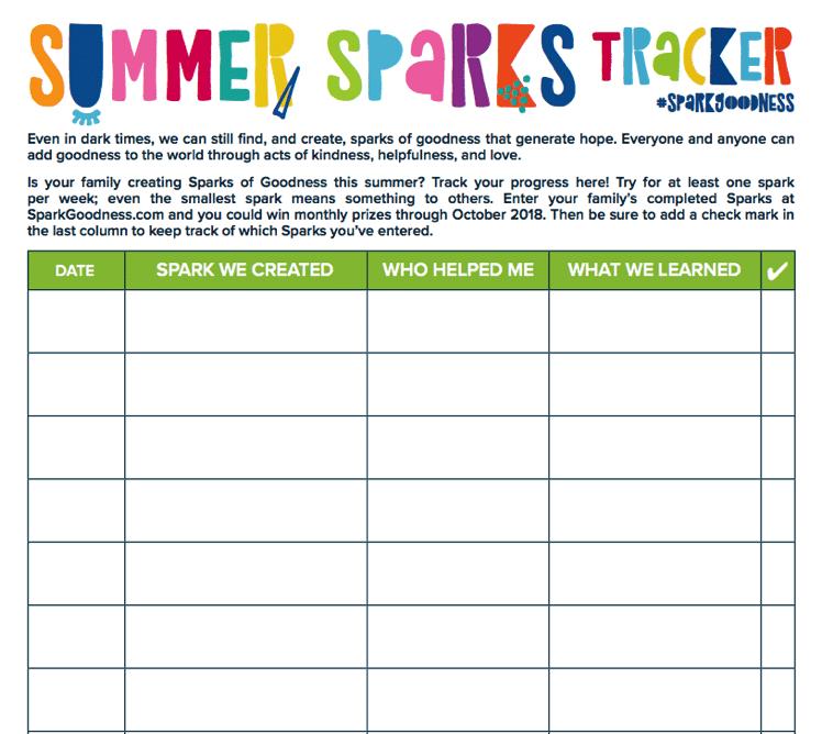 Summer Sparks Tracker