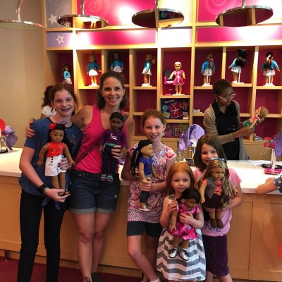 american girl hair salon finished dolls