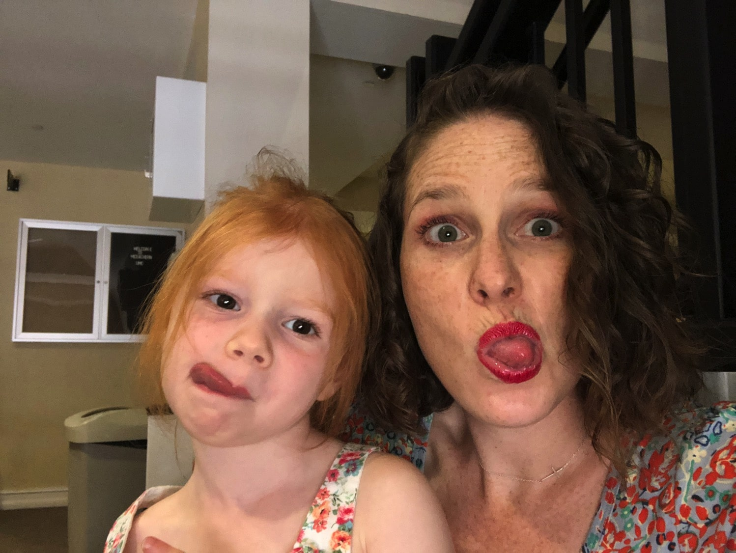 silly faces with B