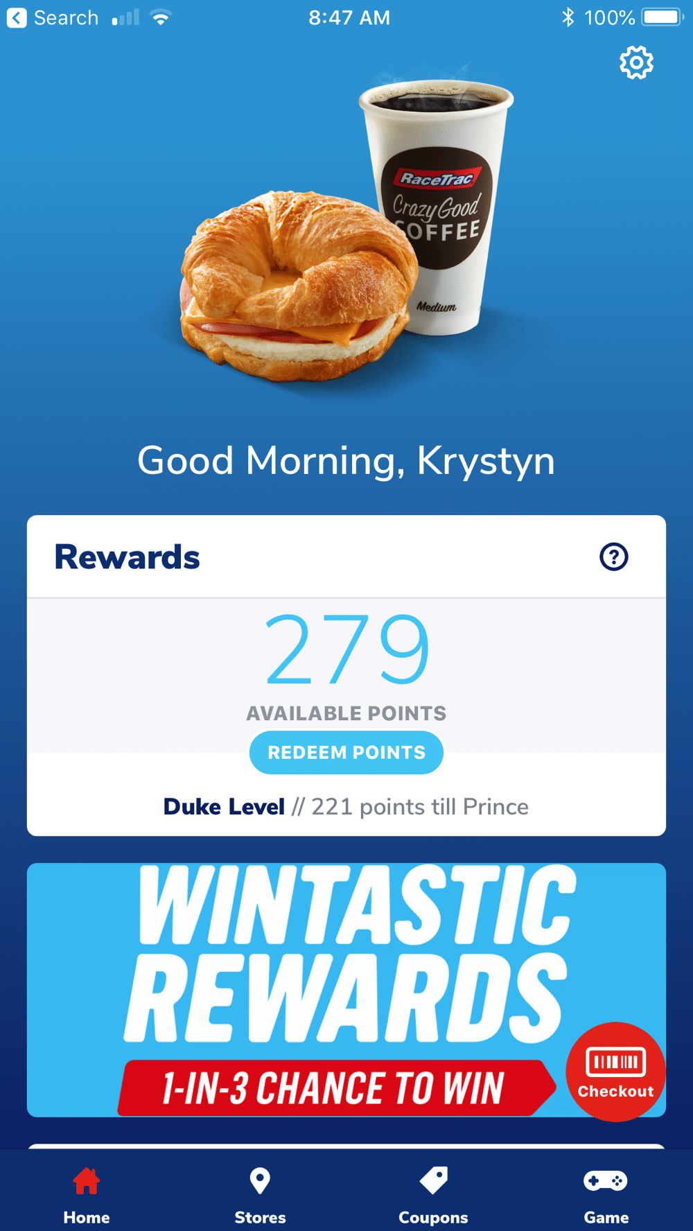 wintastic rewards screenshot