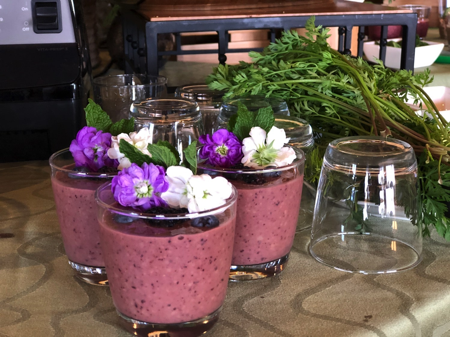 Ginger berry healthy smoothie at king and prince resort