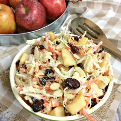 WW apple coleslaw with almonds