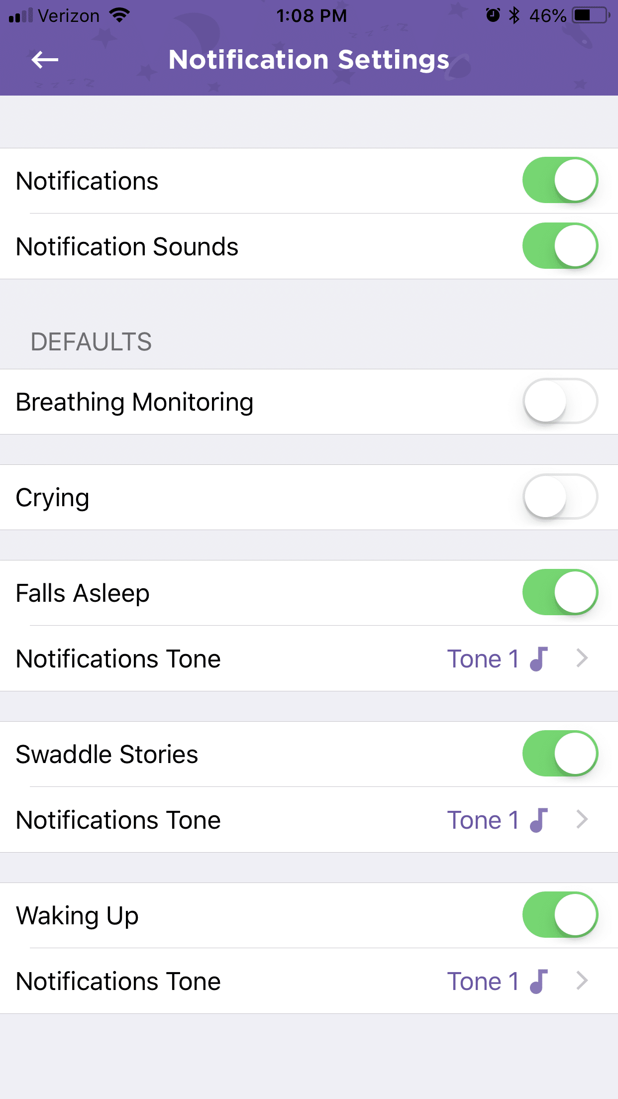 cocoon cam plus notification settings