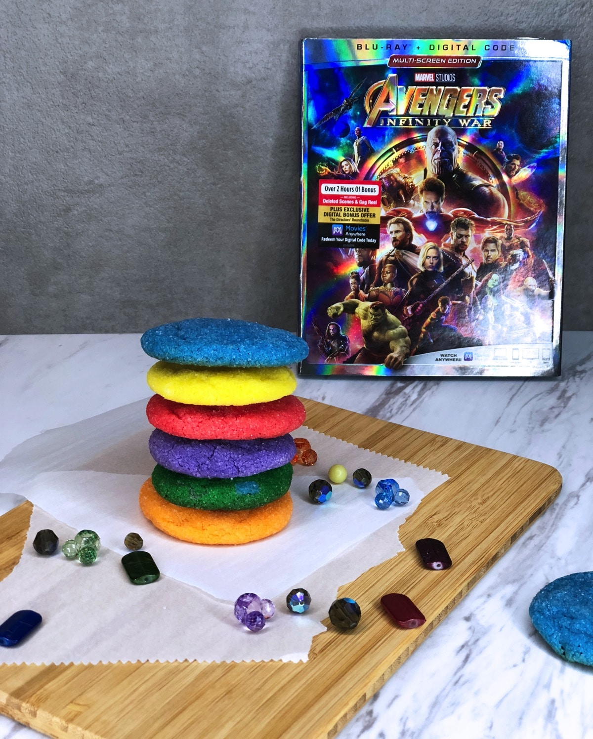 infintiy stone cookies with blu-ray