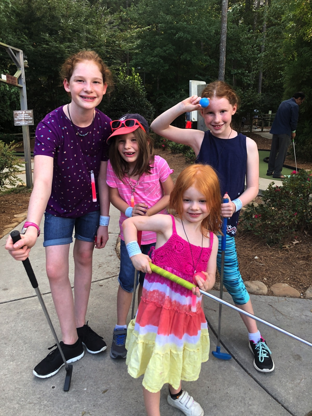Pumpkin Festival at Stone Mountain Park: Play By Day, Glow by Night | Mommy and Me Monday miniature golf