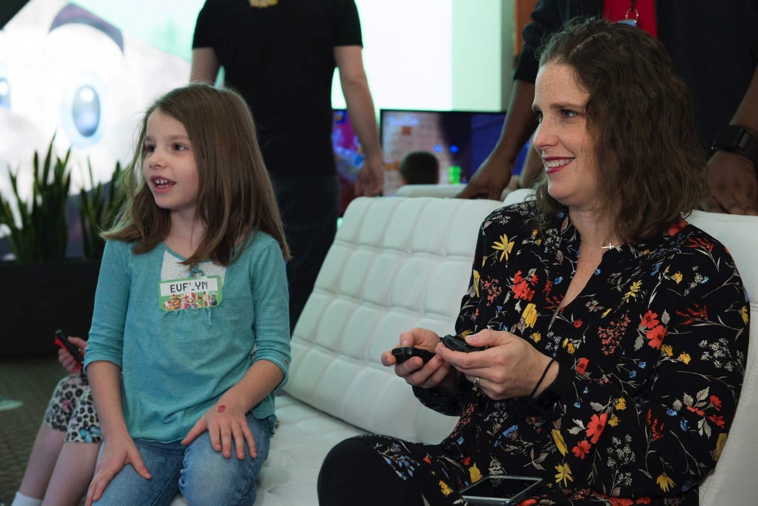 Mommy and e with nintendo switch