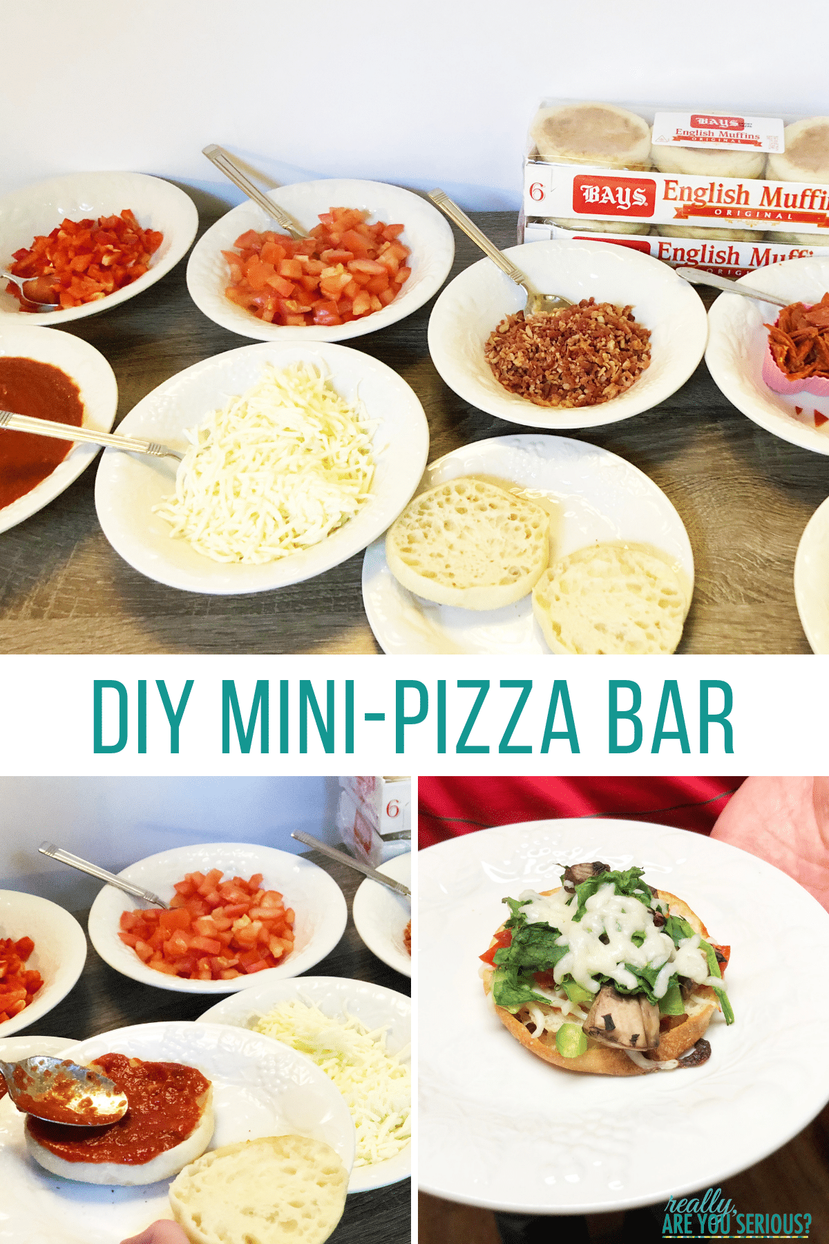 DIY mini pizza bar