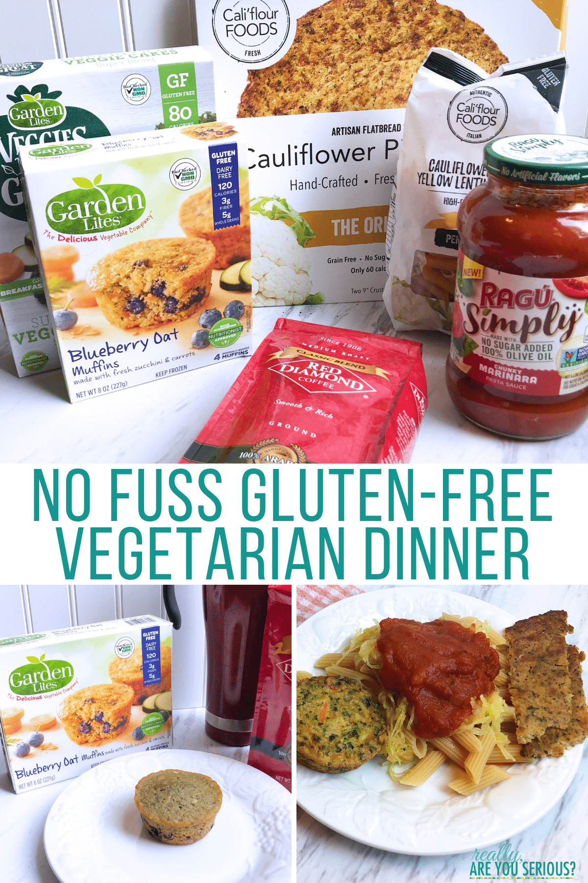 No fuss gluten free vegetarian dinner