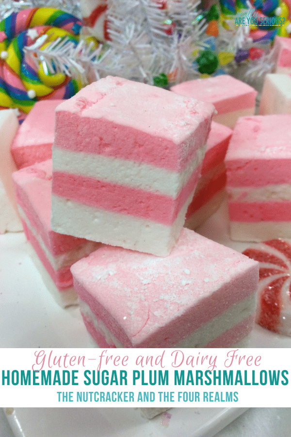 Sugar Plum Marshmallows Gluten Free and Dairy Free | The Nutcracker and the Four Realms Recipe