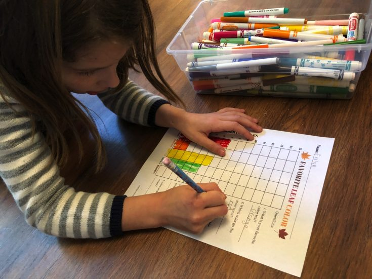 Favorite Leaf Activity with Graph and Free Printable