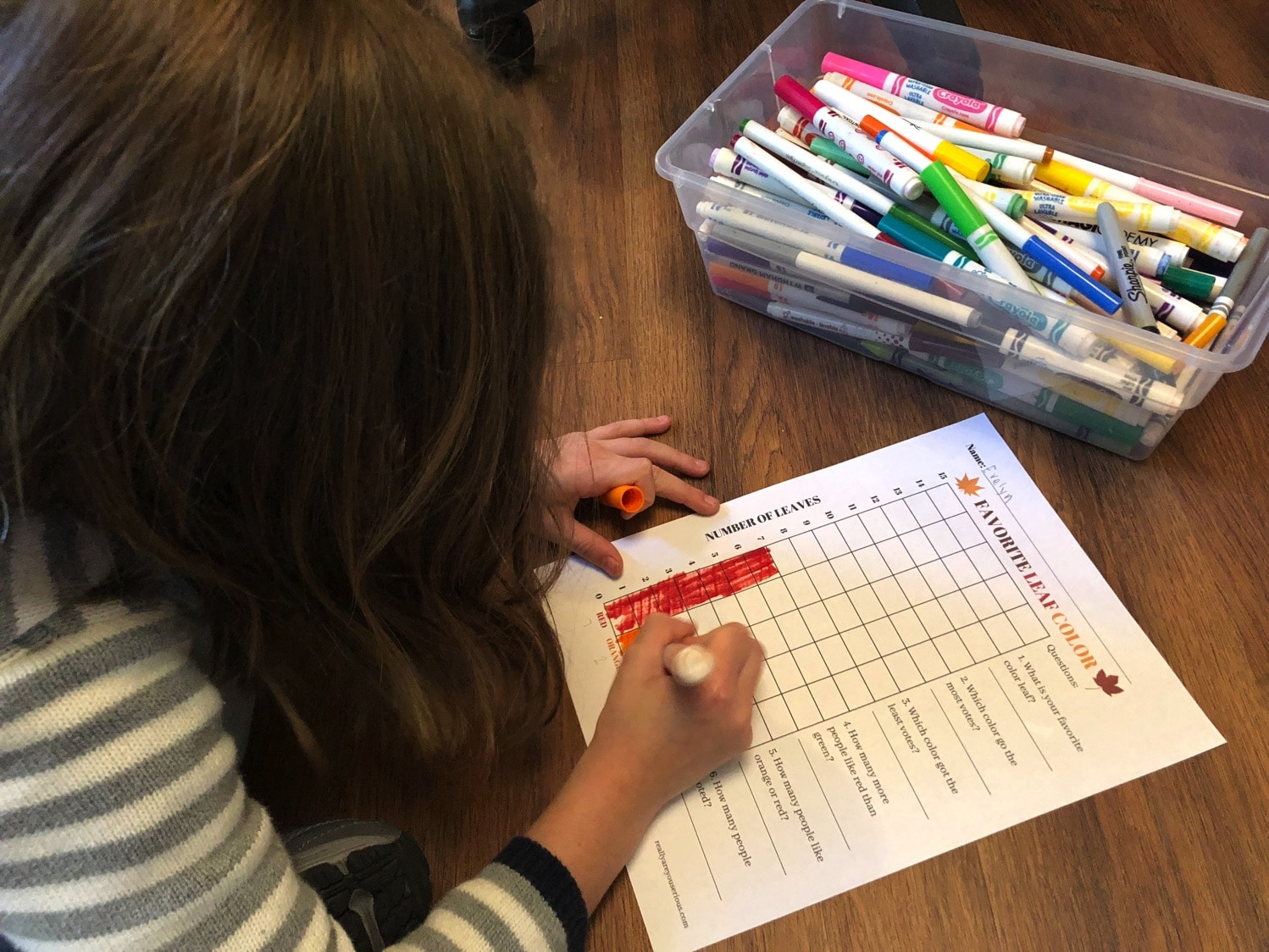 graph coloring for fall leaf activity