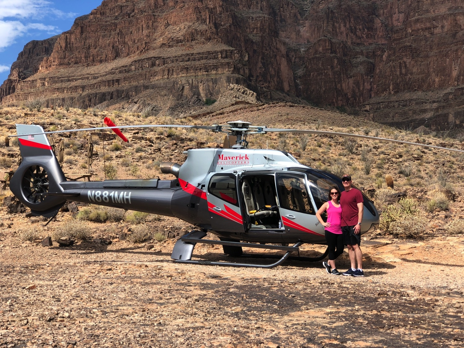 inside the grand canyon maverick helicopter tours