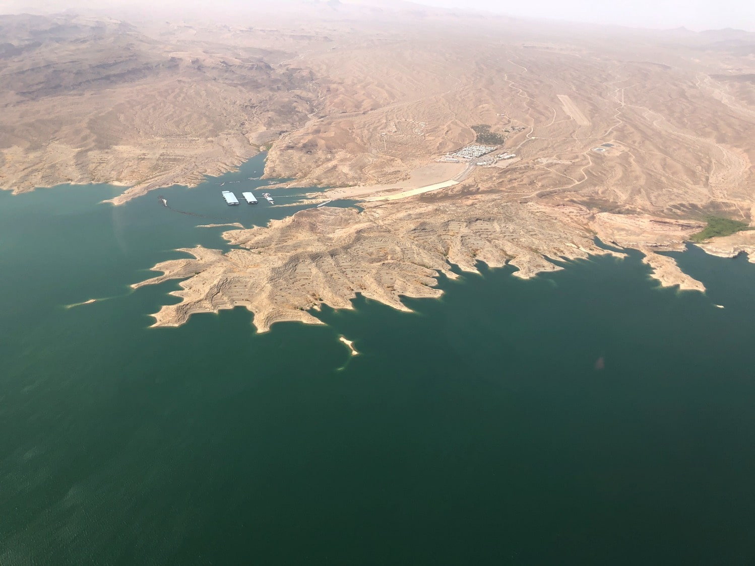 lake mead from helicopter tour