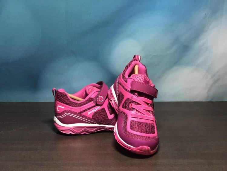 pediped sparkly pink shoes