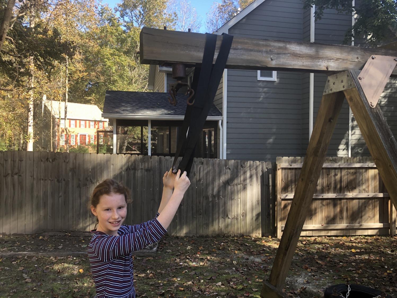 setting up LÆGENDARY outdoor swing