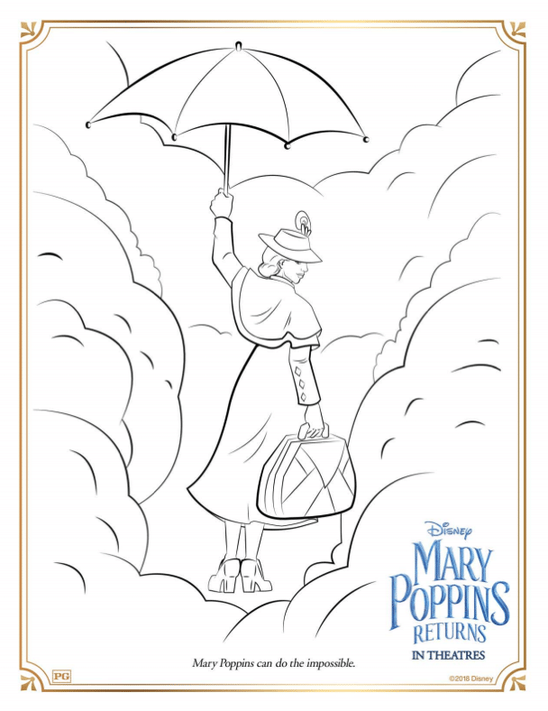 Mary Poppins Returns Coloring Sheet