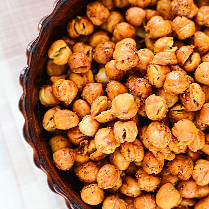 Oven Roasted Chili Chickpeas