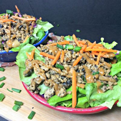 Copy Cat Thai Lettuce Wrap Salad