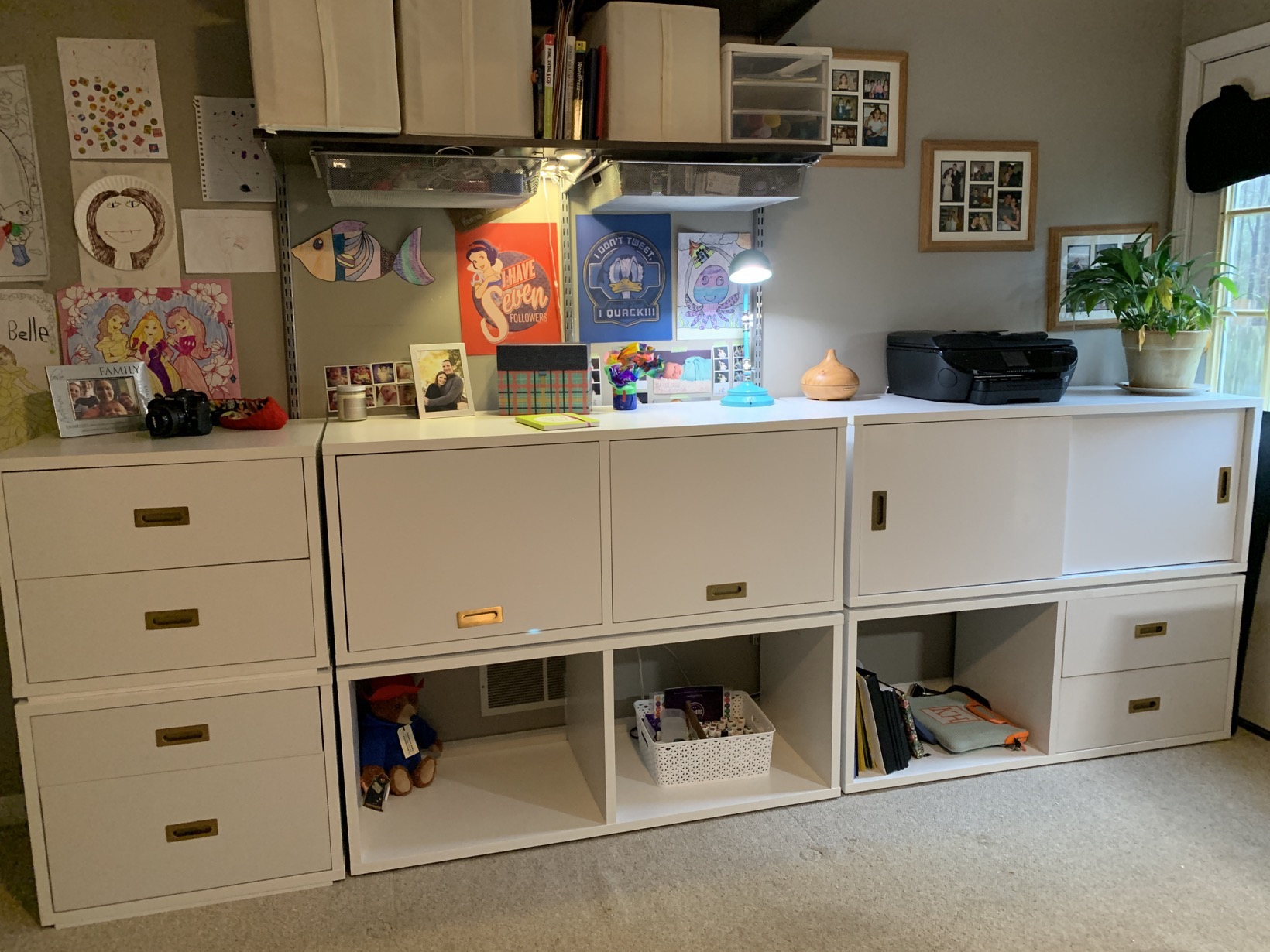 Walmart Better Homes and Gardens Ludlow Set in Office minus desk