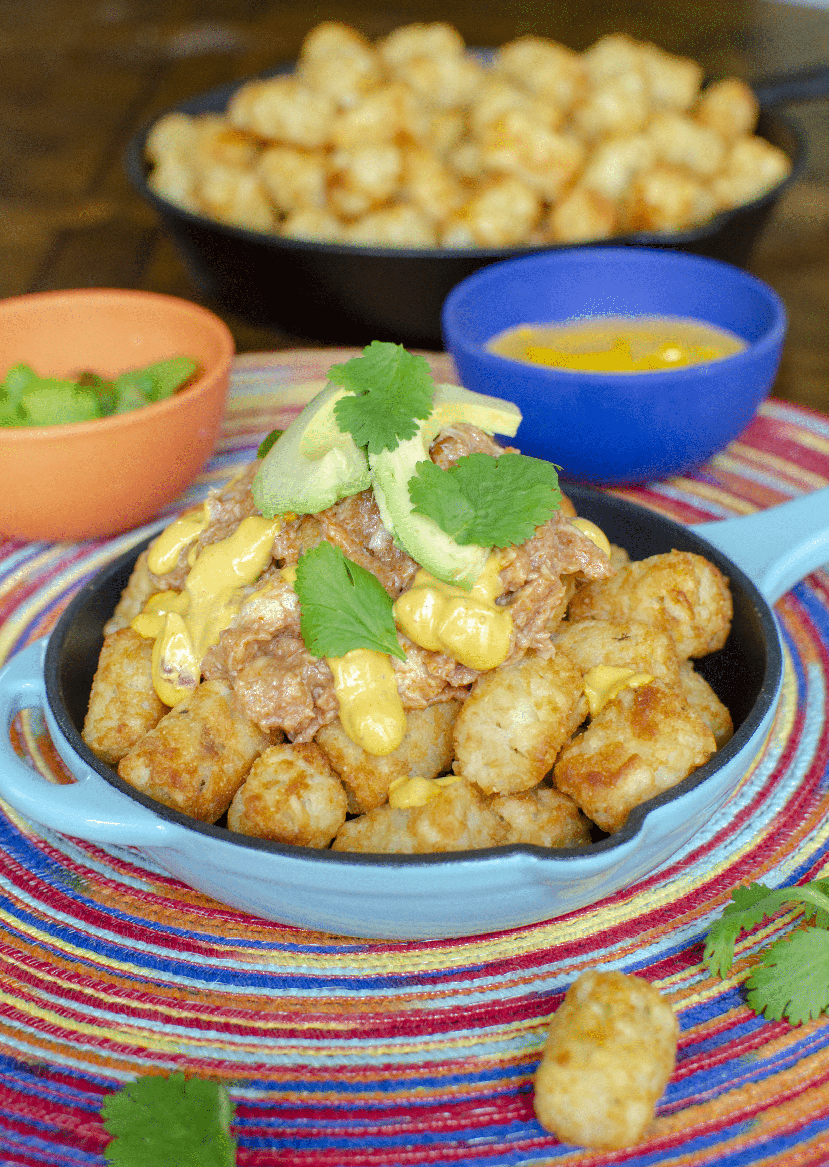 Gluten free dairy free totchos with bbq chicken