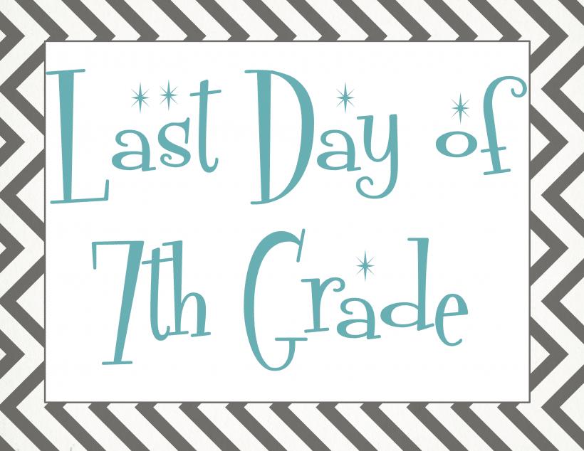 Last day of 7th grade