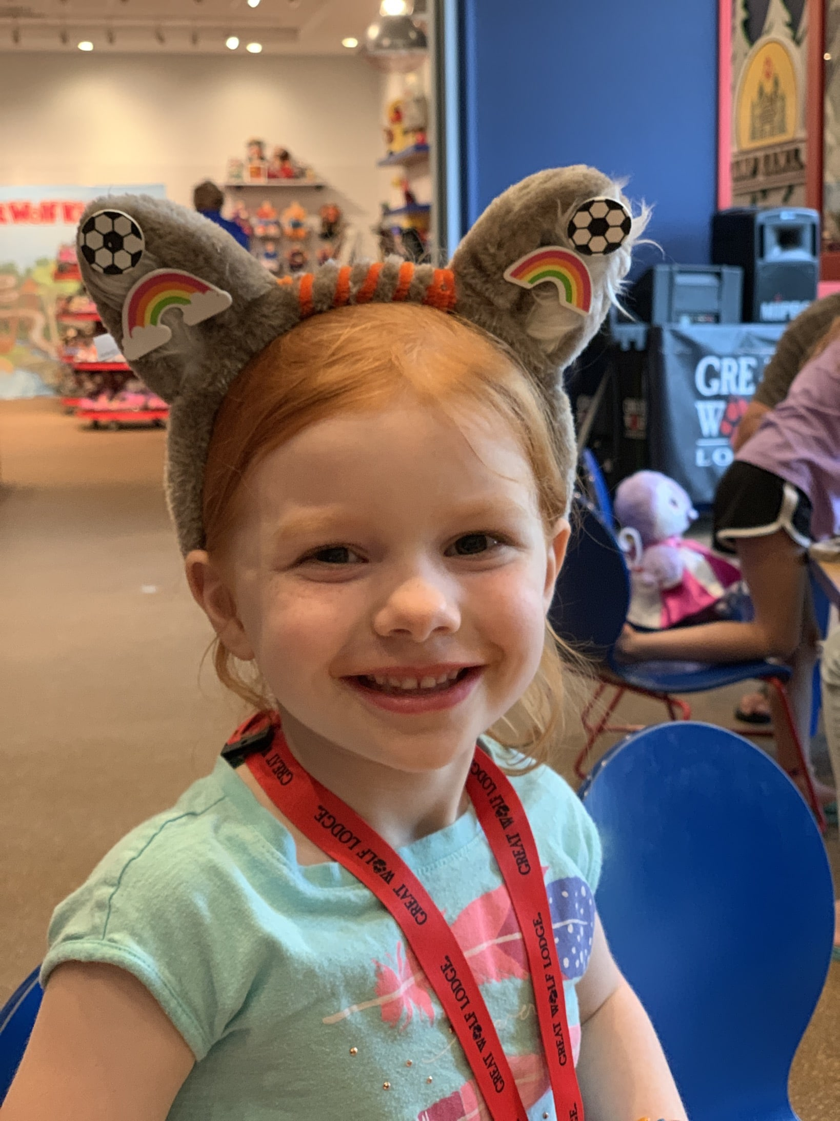 summer camp-in decorated wolf ears