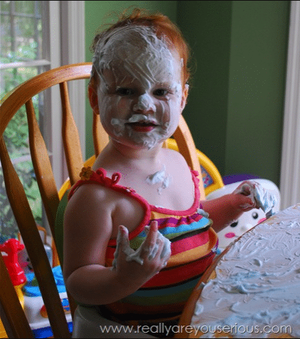 N covered in shave cream