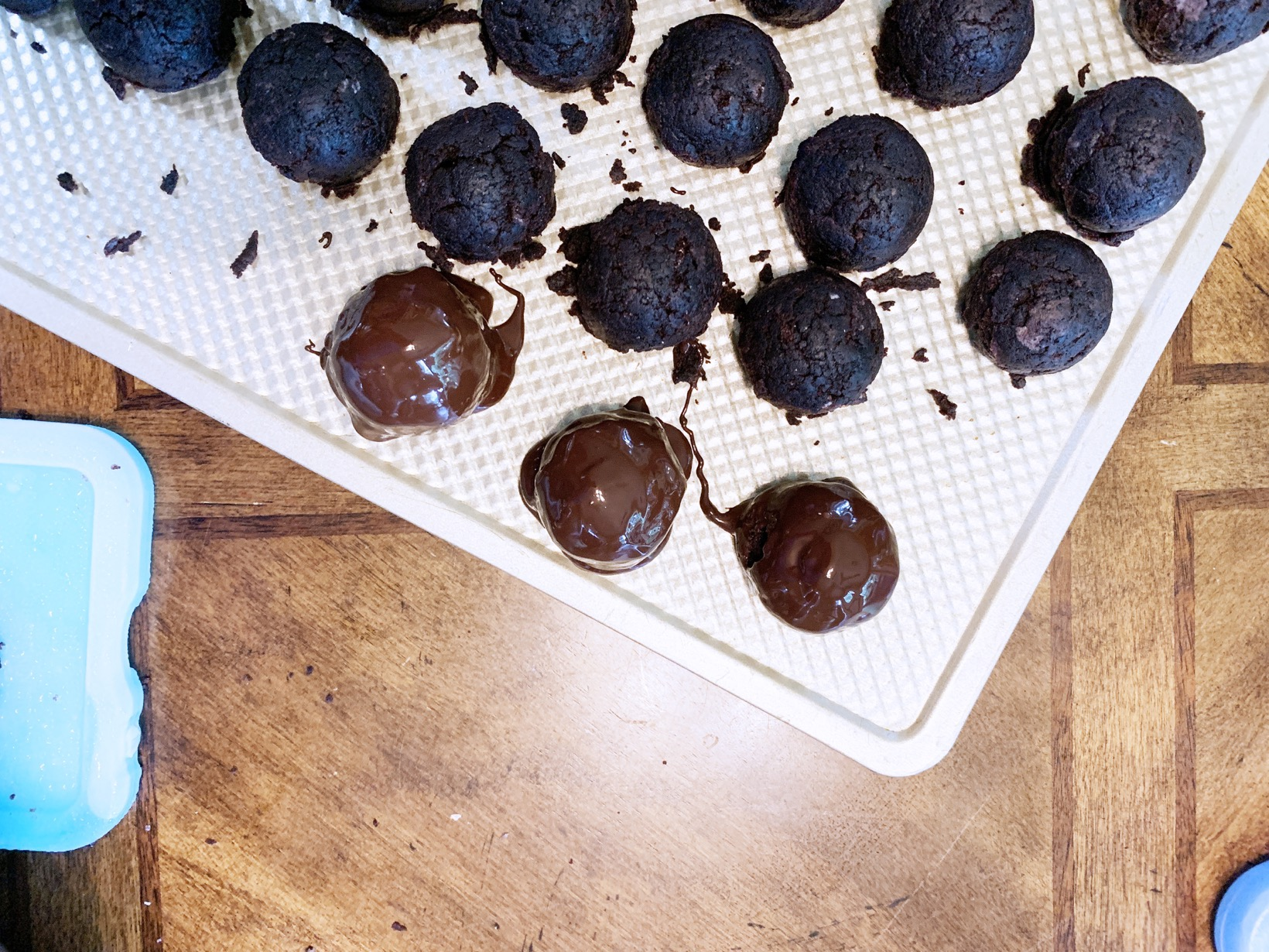 rolling in chocolate Gluten-free Dairy-free Death by Chocolate Cake balls