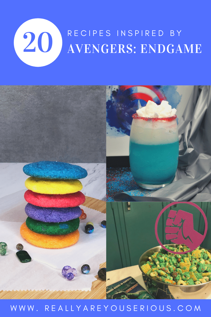 20 recipes inspired by avengers endgame