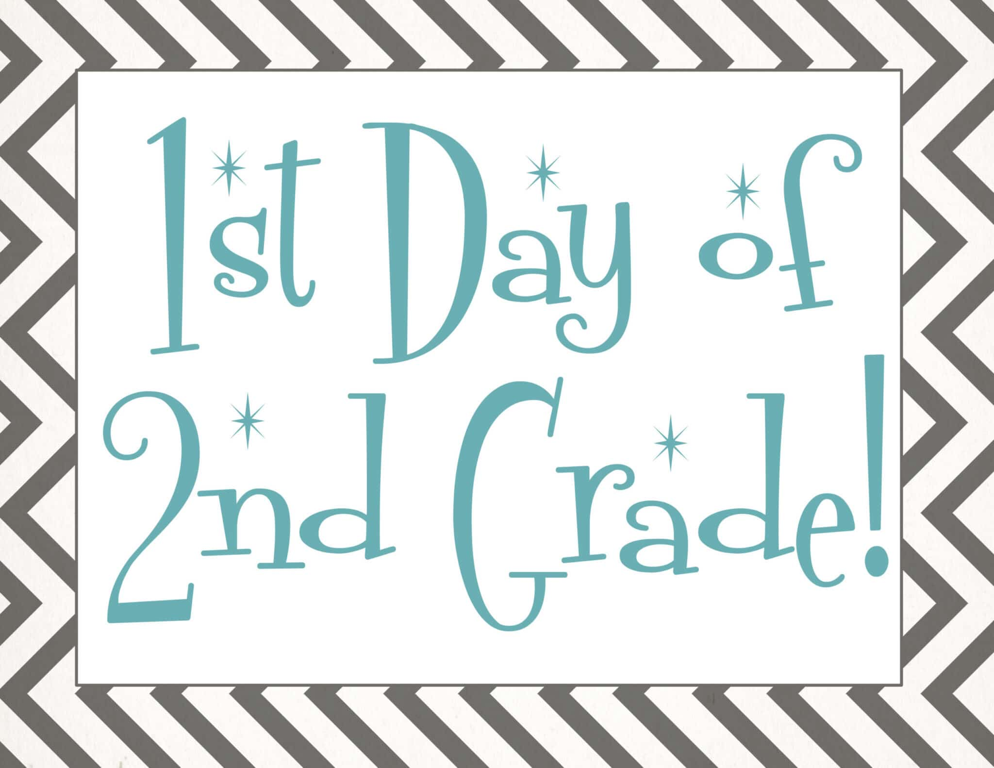 free Back to school printable | first day of 2nd grade