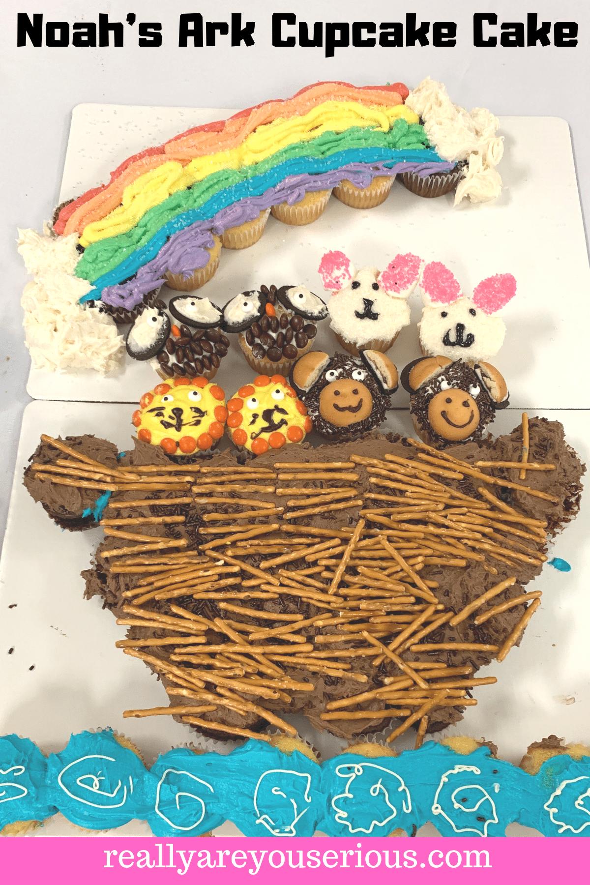 Noahs Ark Cupcake Cake