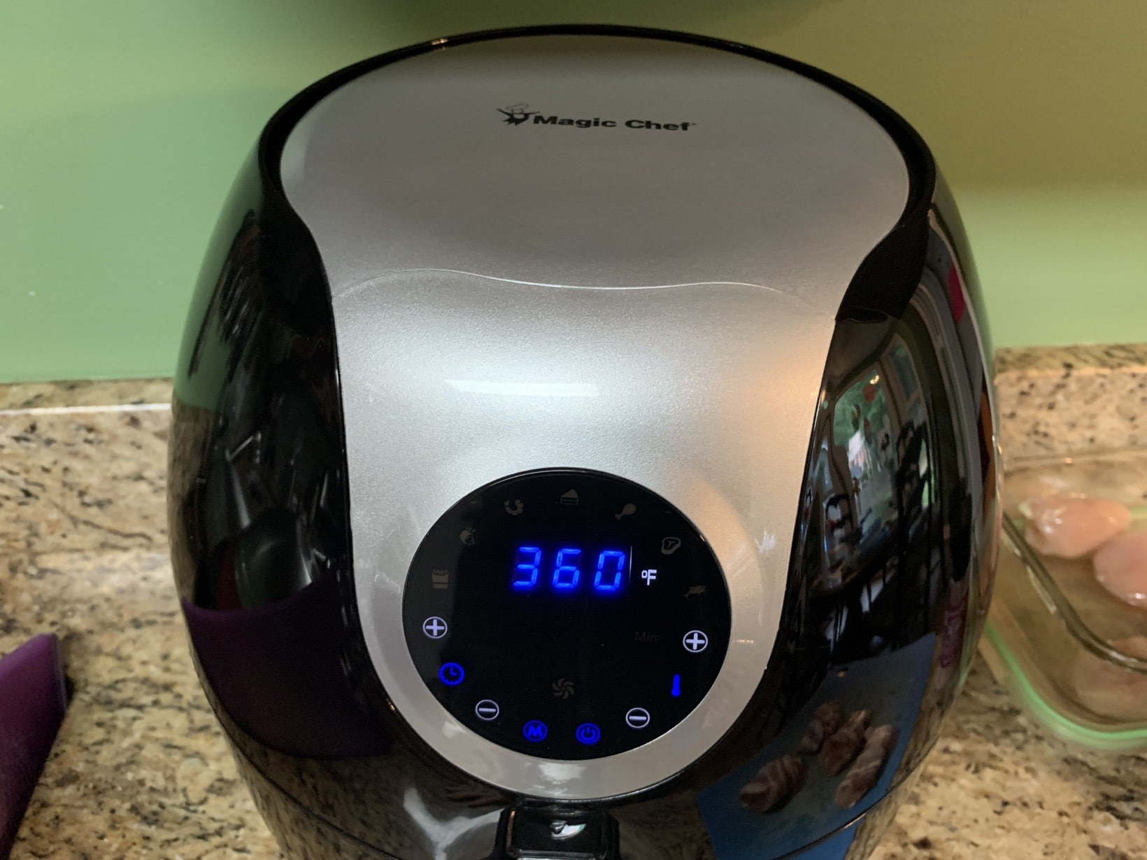 setting the air fryer temprature for bacon wrapped chicken