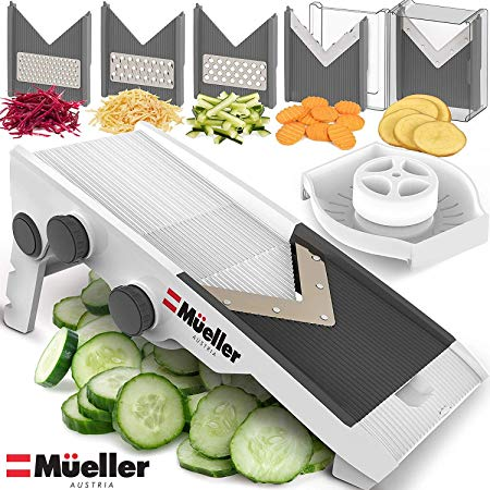 Mueller Austria V-Pro Multi Blade Adjustable Mandoline Cheese/Vegetable Slicer with Precise Maximum Adjustability