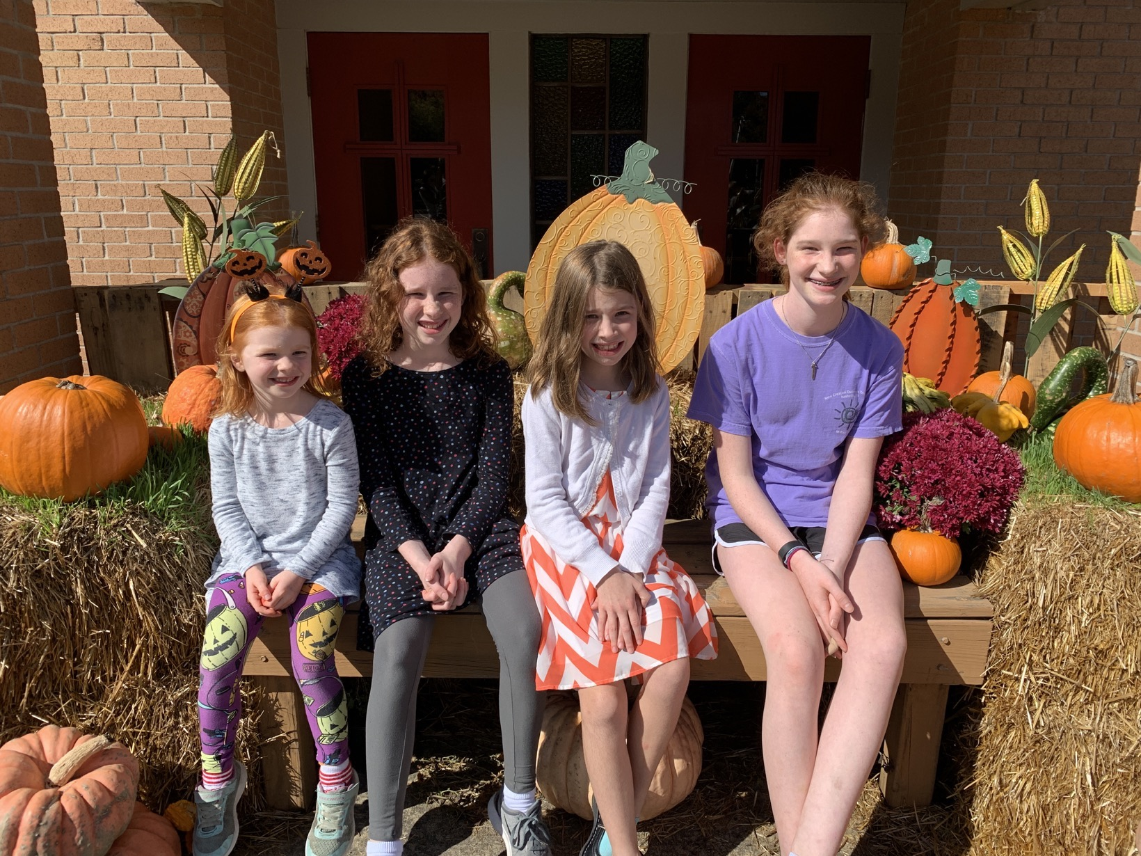 pumpkin patch picture all of my girls