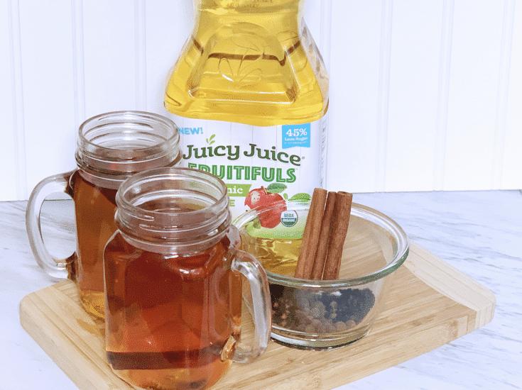 Lower sugar apple cider with elderberries