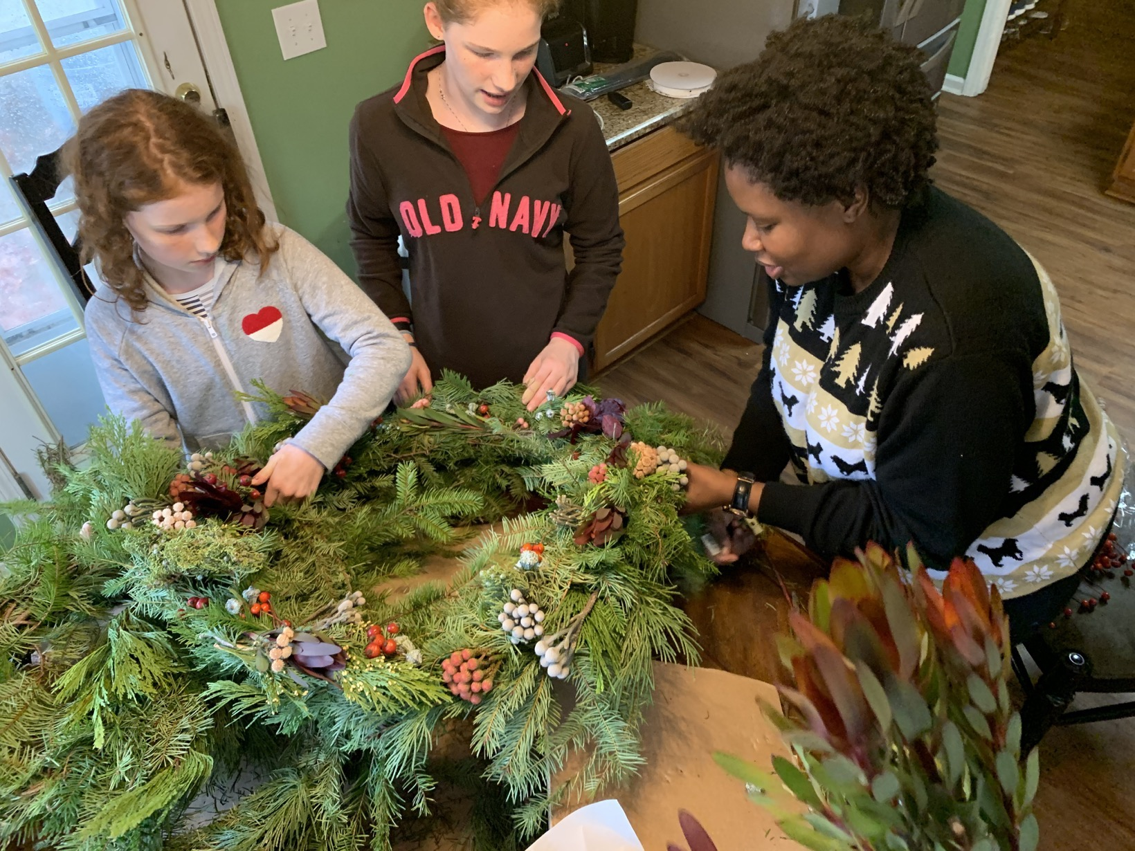 natural wreath making mommy and me monday