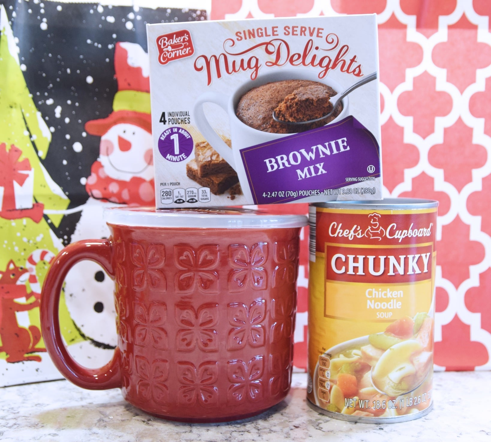 Soup mug and brownie mix