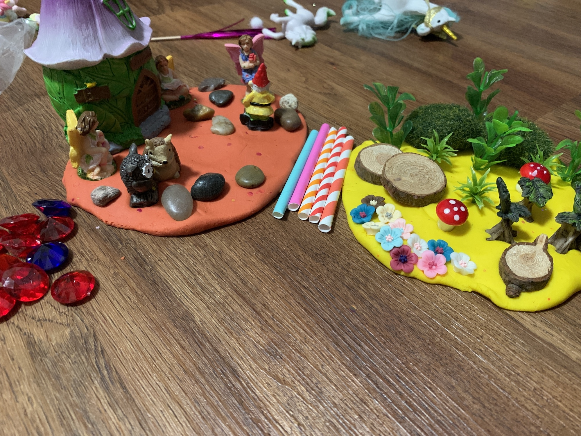 playing with busy box child sensory play kit fairy garden kit mixed