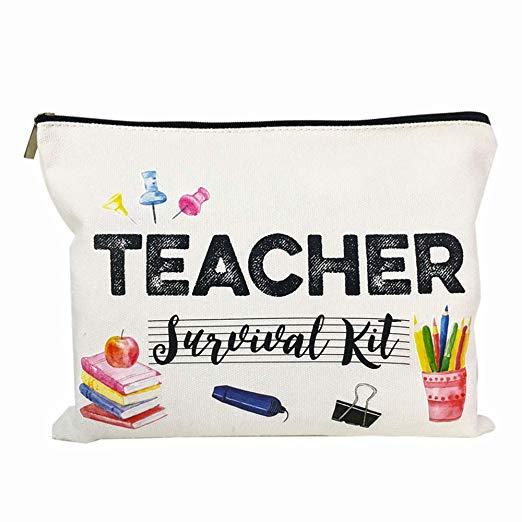 4. Teacher survival kit, pencil bag or makeup bag