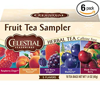 Celestial Seasonings Herbal Tea, Fruit Tea Sampler